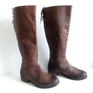 Diba True Jac Kett Leather Tall Brown Riding Boot